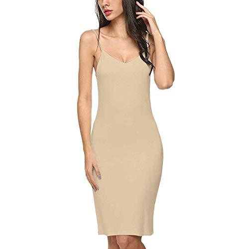 Toponly Casual Nightdress For Women Elegant Camisole Solid Strap Slim Sleepdress Chemise Mini Dress -