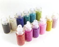 12bottles Loose Glitter Caviar Beads Microbeads Micro Beads Nails
