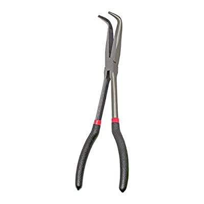 KING 11-Inch Long Reach 90-Degree Bent Long Nose Pliers