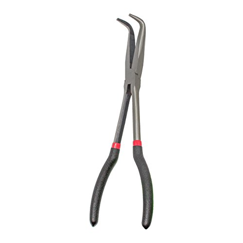 KING 11-Inch Long Reach 90-Degree Bent Long Nose Pliers Bent Long Reach Plier