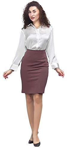 Marycrafts Women's Work Office Business Pencil Skirt S Brown Derby