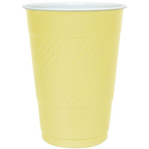 Hanna K. Signature 81360 18 Oz Yellow Plastic Cup - 600 Per Case