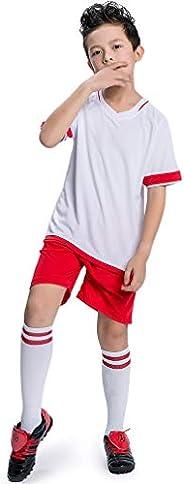 TERODACO Boys Basketball Shorts and Jerseys Tank Tops Kids Girls Soccer Uniforms Set for Performance Training