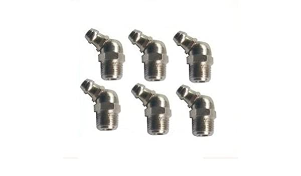 Amazon com: 6 Pieces Grease Fitting BSPP BSP Pipe 1/8-28 Zerk Nipple