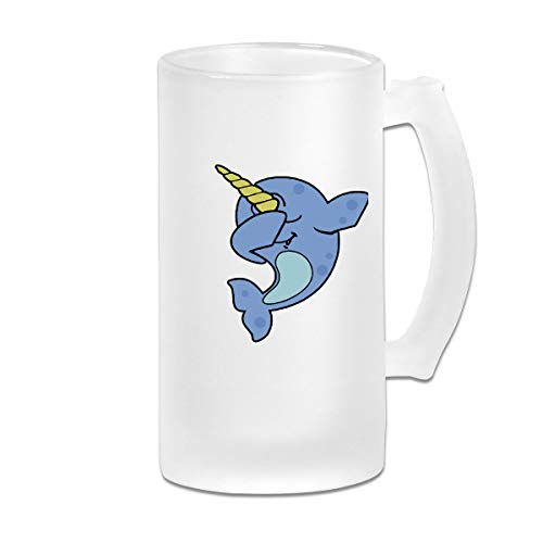 Dab Narwhal Beer Mug Frosted Glass Stein Mug Cup For Soiree Bachelor Party (Dab Beer Mug)