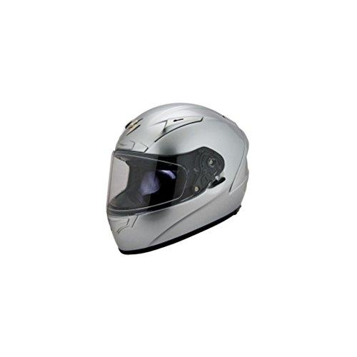 Scorpion EXO-R2000 Solid Hyper Silver Full Face Helmet - Medium