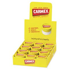 Carmex Moisturizing Lip Balm, Original Flavor, 0.25 oz Jar, 12/Box (LIL62458)
