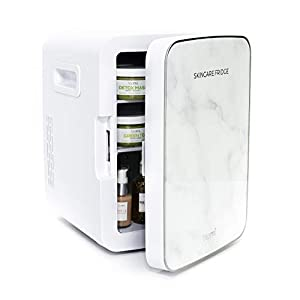Beauty Shopping Teami Mini Fridge for Skincare – 10 Liter Compact Mini Refrigerator – Perfect for Bedroom or the Office. Store Cans…