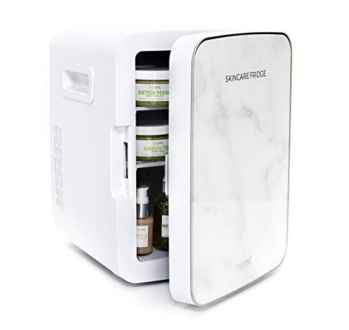 Teami Mini Fridge for Skincare - 10 Liter Compact Mini Refrigerator - Perfect for Bedroom or the Office. Store Cans, Cosmetics, Beauty Serums, Moisturizers, Oils, Toners, Face Masks, and Makeup
