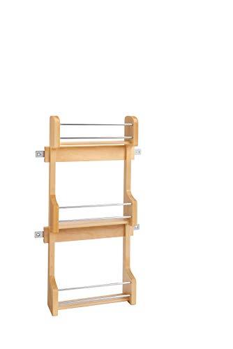 (Rev-A-Shelf - 4SR-15 - Small Cabinet Door Mount Wood 3-Shelf Spice Rack)
