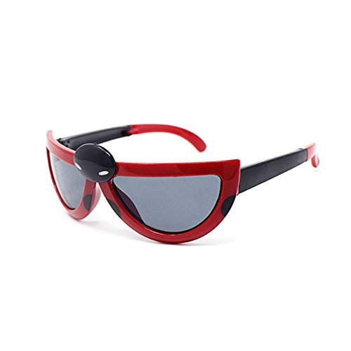 Ultra 3 x Red and Black Coloured Pairs Childrens Kids Boys Girls Stylish transforming cute ladybird Style - Bans To Where Ray Buy