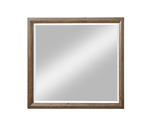 Emerald Home Furnishings Pine Valley Carmel Brown Mirror with Rustic Frame and Dresser Attachment ()