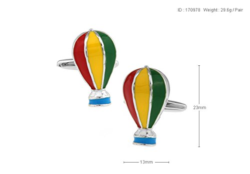 MFYS Classic Hot-air Balloon French Shirt Cufflinks for Men or Women Designs Retail Promotion