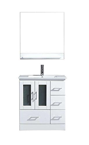 Virtu MS-6730-C-WH Zola Single Bathroom Vanity Cabinet Set, 30