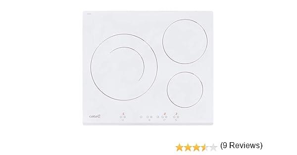 CATA IB 6030 WH (Integrado, con Placa de inducción, Blanco, 1200 W, Alrededor, 16 cm), 2700 W, Vidrio, Acero Inoxidable: 303.23: Amazon.es: Grandes electrodomésticos