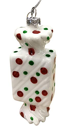 Katherine's Collections Wrapped Square Candy Hanging Ornament 18-849430 4 Inches (Dots) ()