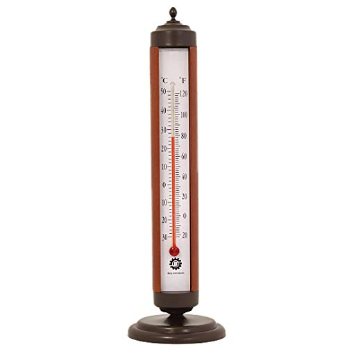 Bjerg Instruments Bronze Tube Indoor Desktop Thermometer