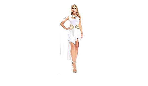 KIRALOVE Blanco - Talla única - Disfraz de Diosa Griega Romana ...