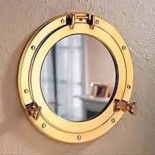 17 Solid Brass Porthole Mirror Nautical Decor Wall Hanging Mirror Frame