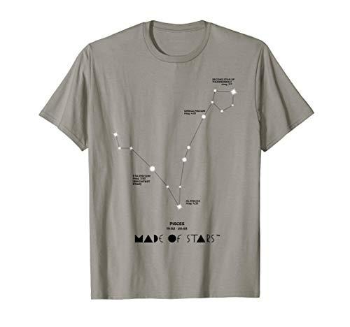 Pisces Horoscope T Shirt Zodiac Sign Constellation Astrology