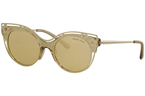 Michael Kors Women's Melborne 0MK1038 52mm Light Brown Crystal Injected/Yellow Gold Mirror One ()