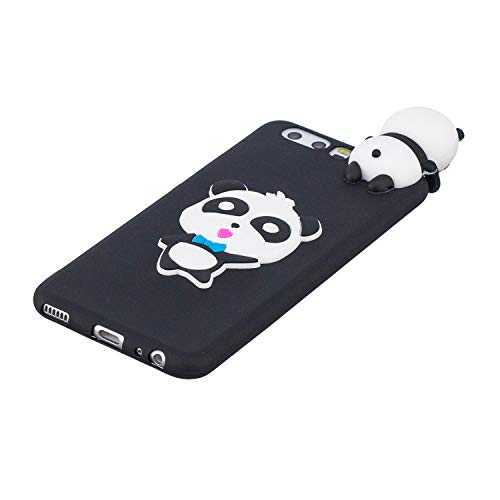 for Huawei P10 Silicone Case with Screen Protector,QFFUN 3D Cartoon [Panda] Pattern Design Soft Flexible Slim Fit Gel Rubber Cover,Shockproof Anti-Scratch Protective Case Bumper by QFFUN (Image #2)
