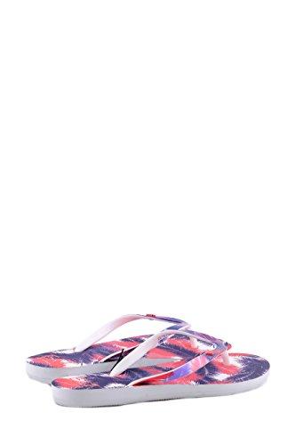 Emporio Armani EA7 infradito donna in gomma sea world palm graphic rosa