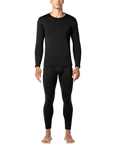 LAPASA Men's Heavyweight Thermal Underwear Long John Set Fleece Lined Base Layer Top and Bottom - Long Fleece Underwear