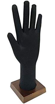 Black Bendable and Posable Foam Glove and Jewelry Display Hand
