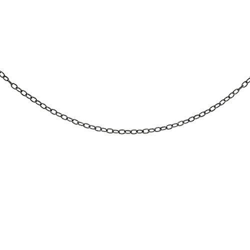 Argent 16-50,8cm oxydé réglable texturé Chaîne à maillons