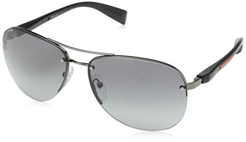 Prada Sport 56MS 5AV3M1 Black 56MS Sunglasses by Prada