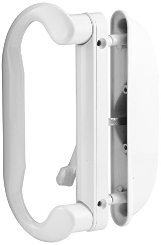 (Prime-Line Products C 1277 Mortise-Style Reversible Patio Door Handle, Die-Cast, Painted, White)