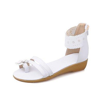 LvYuan Vestido White Sandalias Rosa Confort Blanco PU Informal Plano luz Azul Exterior Tacón con Suelas r6xgpwqRr8