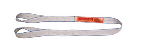 2 Ply Web Sling - Liftall EE2801TTX3 Tuff-Edge Web Sling, Twisted Eye and Eye, 2-ply, 1