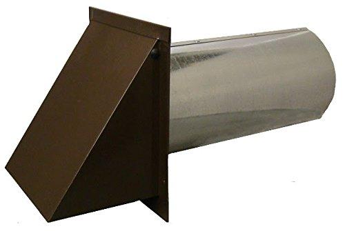 Deluxe Dryer Vent, Steel with Magnetic Damper (Brown)
