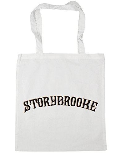 HippoWarehouse Storybrooke Tote Compras Bolsa de playa 42cm x38cm, 10litros blanco