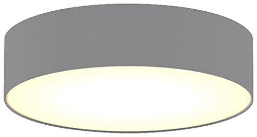 Ranex Ceiling Dream Collection Moderne Deckenleuchte, Durchmesser 40 cm, grau / satinierte Abdeckung 6000.544