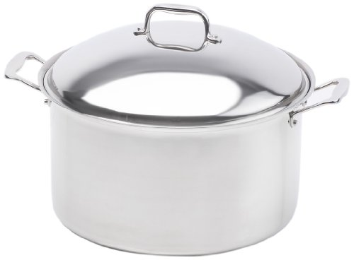 360 Cookware Stainless Steel Stockpot with Cover, (16 Qt Waterless Stock Pot)