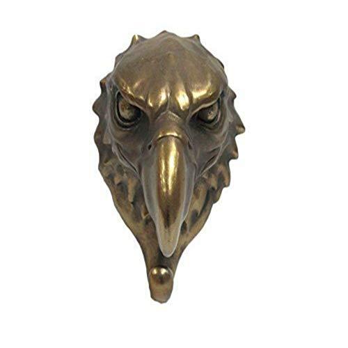 Eagle Head Single Wall Hook Hanger Animal Shape Bronze Finish Figurine #EG02