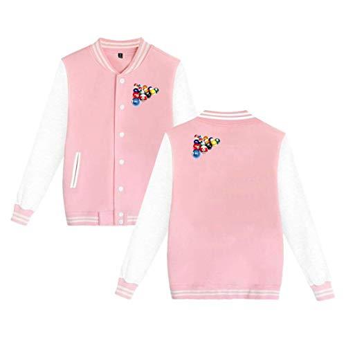 Unisex Baseball Jacket Varsity Warm Cotton Premium Uniform Billiards Sport Sweater Coat ()