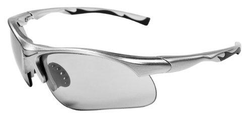JiMarti Sunglasses JM12 Sports Wrap for Baseball, Softball, Cycling,Golf TR90 Frame (Silver & Smoke)