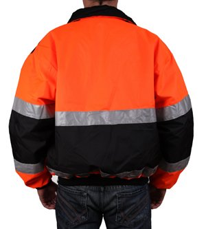 Safety Depot Reversible Jacket Class 2 ANSI Approved, Water Resistant, High Visibility Reflective Tape with Pockets… 2