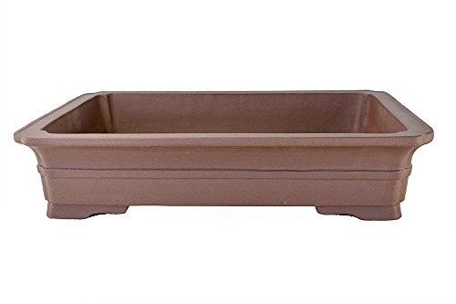 Extra Large Flat and Shallow Unglazed 21'' Rectangular Yixing Zisha Bonsai Pot (PA40-4) by BonsaiSupplies