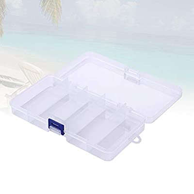 Vosarea Tackle Box 5 Grids Fishing Lure Boxes Plastic Bait Hooks Fishing Tackle Accessories Storage Box Case Container