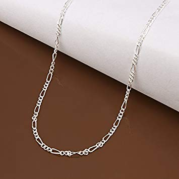 Cutesmile Fashion Jewelry 925 Sterling Silver Italian 2mm Figaro Link Solid 925 Necklace Chain 16-24 for Men /& Women 16 inches