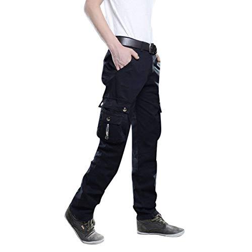 Automne Nero Air Pantalons De Hommes Plein Vêtements Cargo Mode Pantalon Avec Couleur Printemps Pour Jogging Sport Poches Unie wgqTOIan