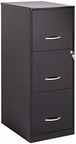 Pemberly Row 3 Drawer Letter File Cabinet in Black