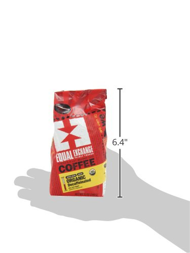 Equal Exchange Organic Whole Bean Coffee, Decaf, 12-Ounce Bag (Pack of 3) 3 Contains 3 bags, 12 oz per bag (36 oz) TASTE: Organic Decaffeinated Ground Full-Bodied Coffee with a Balanced Flavor of Sweet Nutty & Vanilla ROAST: Full City Roast Blend