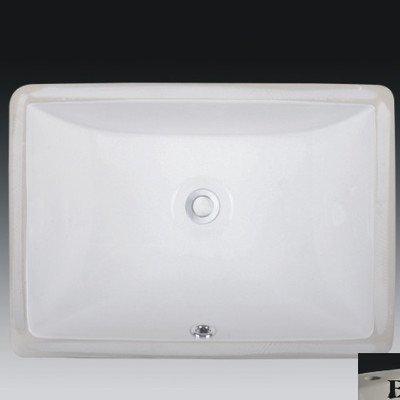 Wells Sinkware RTU2015-6B Rectangular Vitreous Ceramic Lavatory Single Bowl Undermount, 20 x 15 x 6-Inch, - Bisque Undermount