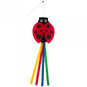 Sacca a vento–Lady Bird–Resistente ai raggi UV e agli agenti atmosferici–dimensioni: 15x 60cm–incl. aste in fibra di vetro e vortici moschettone